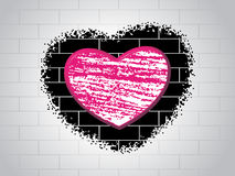Love background with brick design Stock Photography