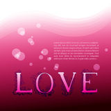 Love. Background with graphic letters Royalty Free Stock Photos