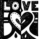 Love background with heart and letters Royalty Free Stock Photo