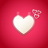 Love Background with Heart Sticker Stock Images