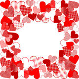 Love background with hearts Stock Images