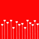 Love background with hearts Royalty Free Stock Photo