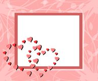 Love background with hearts and floral fantasy. A practice setting suitable for tickets, Saint Valentine or other projects about love royalty free illustration