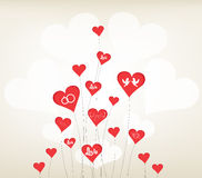 Love background with hearts valentine day Royalty Free Stock Image