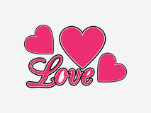 Love background with hearts. Valentine`s Day. Vector Royalty Free Stock Photos