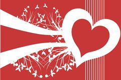 Love background with floral decoration Royalty Free Stock Images
