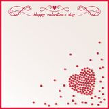 Love background with loose red beads Stock Image