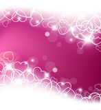 Love  background made from white hearts Royalty Free Stock Photo