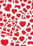 Love background red. A red and white heart shape background design Royalty Free Stock Photography