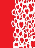 Love background right. A red and white heart shape design that can be used as a background Stock Photos
