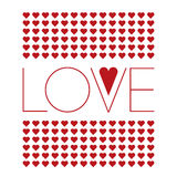 Love background with small red hearts. Vector illustration of love background consisting of small hearts, valentine`s day decoration Royalty Free Stock Image