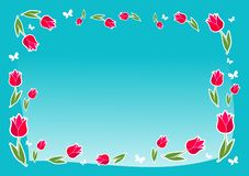 Love background, a spring flowers, blue, teal. A blue backdrop with flowers. stock illustration