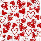 Love background with stylized hearts vector illustration