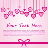 Love Background Vector. Cute background with pink love ornament Stock Illustration
