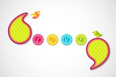 Love Background. Vector illustration of birds in love background Royalty Free Stock Photo