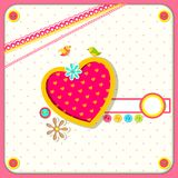 Love Background. Vector illustration of scrapbook design love background Royalty Free Stock Photos