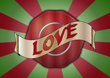 Love badge Stock Images