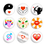 Love badges Royalty Free Stock Photos
