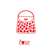 Love bag with hearts. Card Stock Images