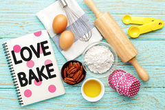 Love baking concept Royalty Free Stock Image