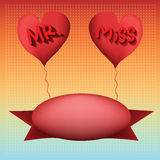 Love balloon Mister and miss Stock Photos