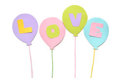 Love balloon paper cut on white background Royalty Free Stock Image