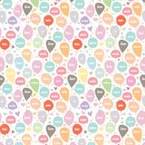 Love Balloon Seamless Pattern with Heart and Star. Seamless Pattern of balloon with love in various language and heart star shape. It can be use as texture stock illustration