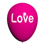 Love Balloon Shows Fondness and Affectionate Feelings. Love Balloon Showing Fondness and Affectionate Feelings vector illustration