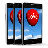 Love Balloon Shows Fondness and Affectionate Feelings Stock Photo