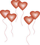 Love Balloons. Art work with vectors, illustration,clip-art free way Stock Photography