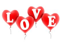 Love balloons Stock Photo