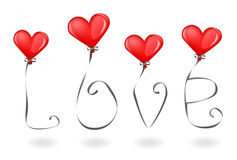 Love and balloons Royalty Free Stock Photo