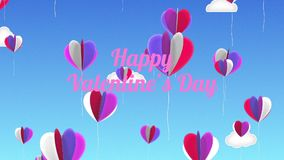 Love Balloons Background Animation for Valentines Day and Wedding. stock video