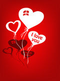 Love balloons for valentine Stock Images