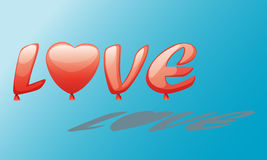 Love baloon. Spread out the love baloon in the sky Royalty Free Stock Images