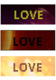 Love banner Royalty Free Stock Photography