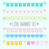 Love banner set Stock Photo