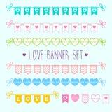 Love banner set Stock Photo