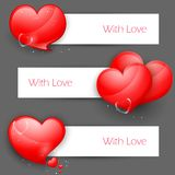 Love Banner for Valentine's Day Stock Images