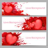 Love Banner for Valentine's Day Royalty Free Stock Photography