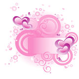 Love banner vector. Love banner floral vector illustration Stock Photography