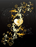 Love banner vector. Love banner floral vector illustration Royalty Free Stock Photography