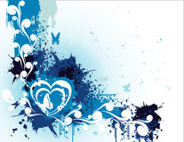 Love banner vector. Love banner floral vector illustration Vector Illustration