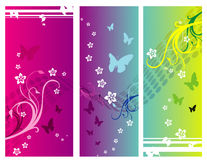 Love banner vector. Love banner floral vector illustration Royalty Free Stock Photo