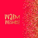 Love banner warm wishes. royalty free illustration