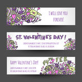 Love banners design Stock Images