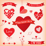 Love Banners and Labels Stock Photo