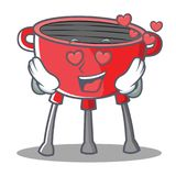 In Love Barbecue Grill Cartoon Character Royalty Free Stock Photography