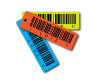 Love Barcode. Yellow Teal Orange stock image