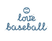 Love Baseball Decoration Stock Image